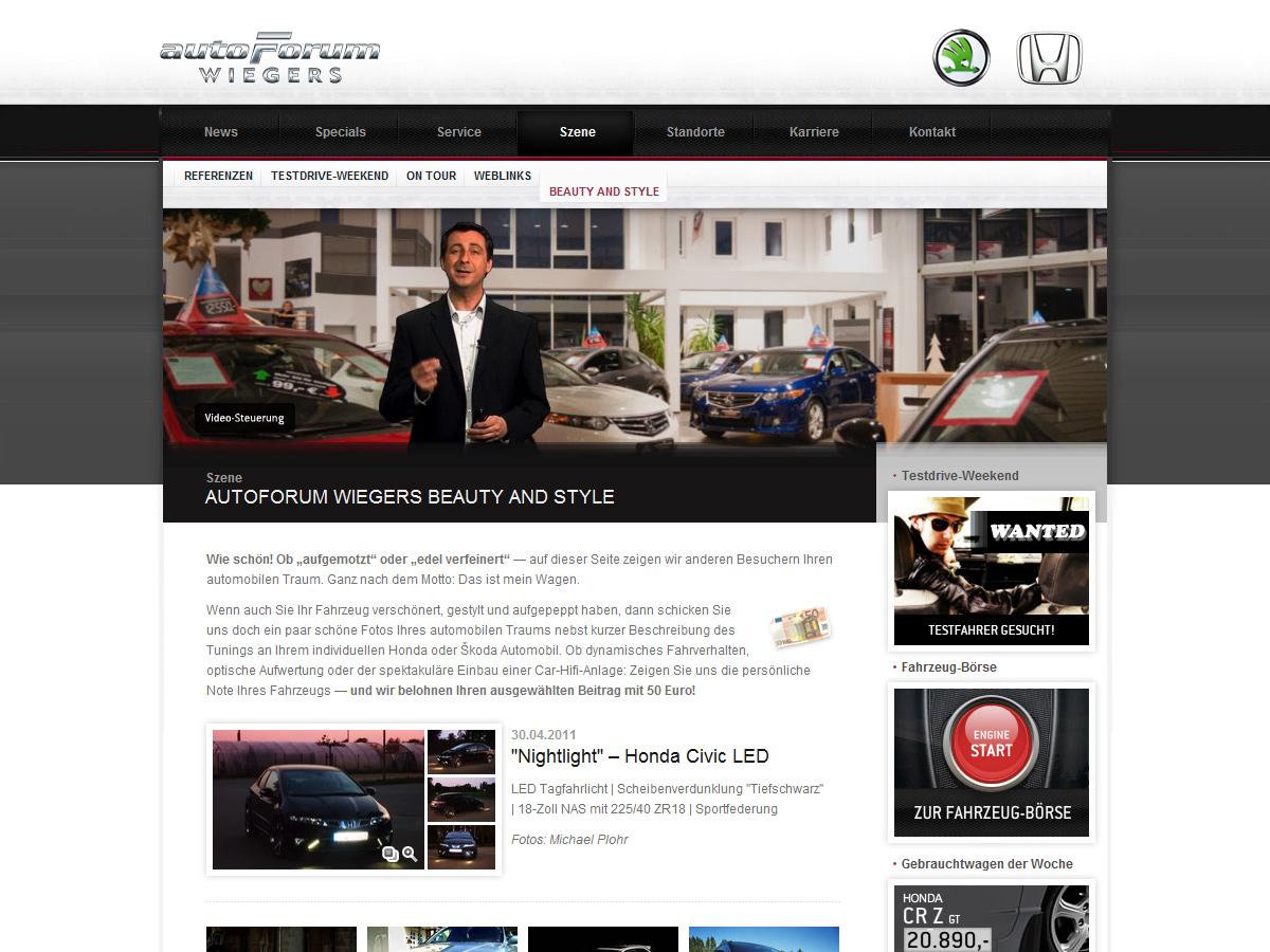 Autohaus nutzt Web-Videomoderationen