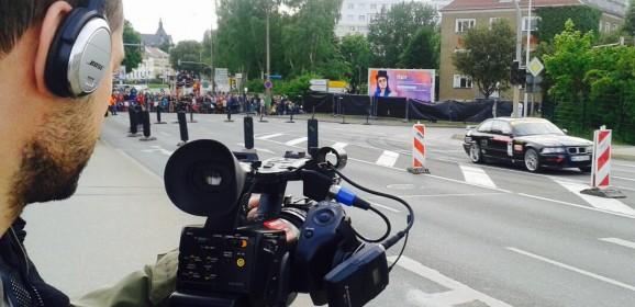 """n-tv Kameramann bei der """"CITROËN RACING TROPHY AvD Sachsen-Rallye 2015"""""""